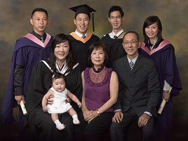 Graduation and Family Portrait